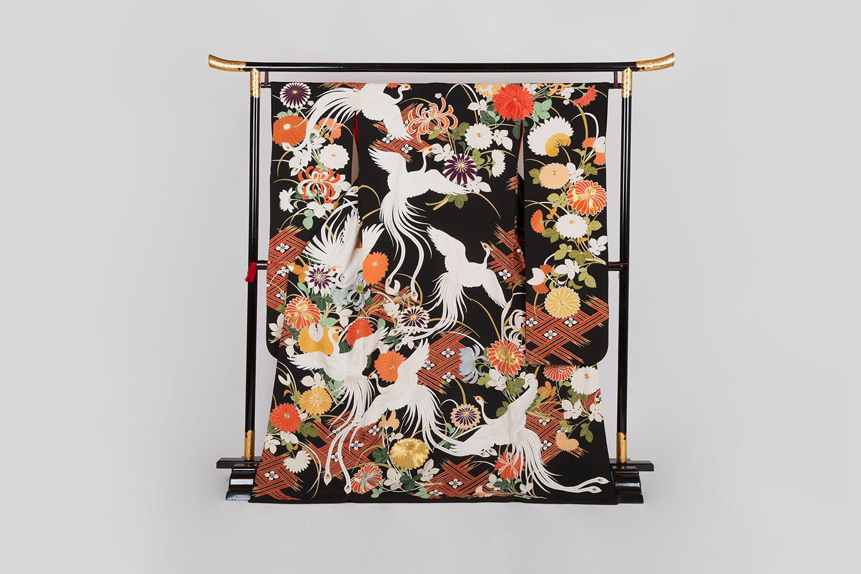 古代衣装 菊に鳳凰